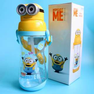 Minions Water Bottle With Straw BPA-Free 550ml