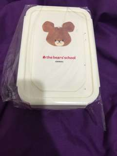 Jackie the bear's school小熊學校粉紅色飯盒lunch box
