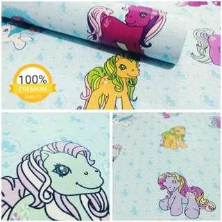Grosir murah wallpaper sticker dinding indah kartun anak kuda putih kebiruan