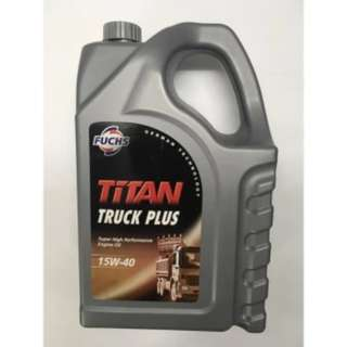Minyak hitam diesel Fuchs Titan