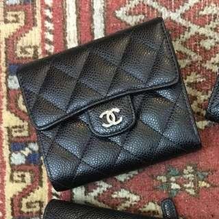 全新 Chanel small classic wallet New 短銀包 銀