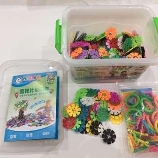 儿童益智玩具 雪花片
