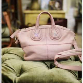 Baby pink leather Givenchy Mini Nightingale satchel with silver Hardware 細 袋