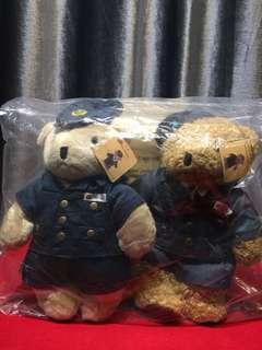 MTR 港鐵 機場快線 Teddy Bears 泰迪熊毛公仔 (set of four)
