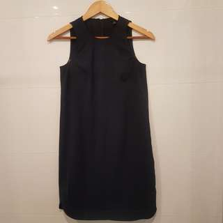 Ann Taylor Overrun Navy Dress