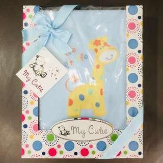 My Cutie Fleece Baby Blanket Gift Box (Blue Color)