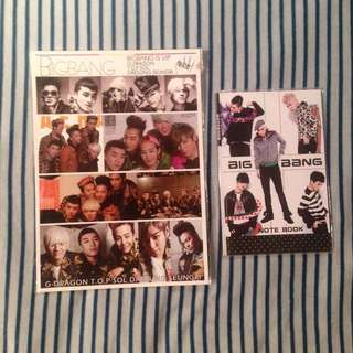 Bigbang Notebook and Sticker