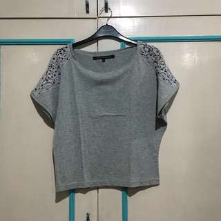 Floral Gray F&H top