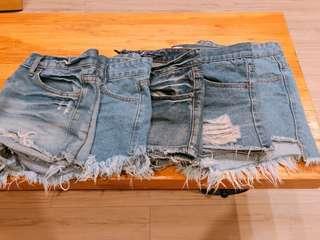 搬家出清-棉花糖女孩🙋🏻♀️牛仔短褲XL