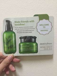 Innisfree Green Tea Seed Serum and Cream Sample Size
