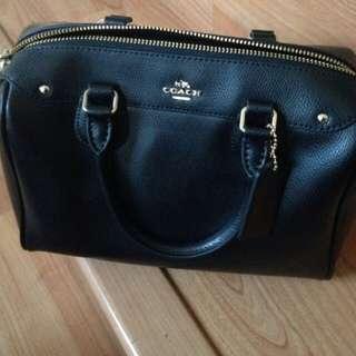 Coach Benett Black leather bag
