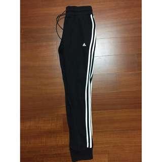 ADIDAS 褲 三葉草 愛迪達 收腳 三線長褲 長褲 棉褲 窄版 女款 黑色 AJ4704 100%實拍