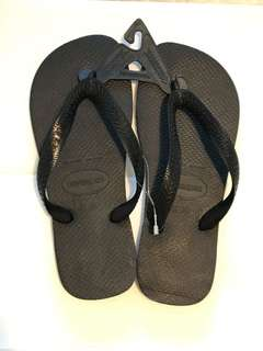 NEW Size 6/6.5 Black Original Havaianas Flip Flops