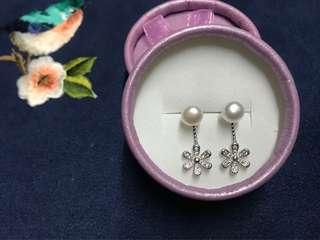 花花淡水珍珠耳環
