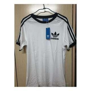 Adidas Original CLFN TEE 阿迪達 愛迪達 三葉草 三條線 短袖 運動  黑白兩色
