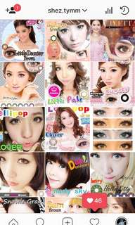 Contact Lens all RM18(pair), buy 5 = RM16/pair.