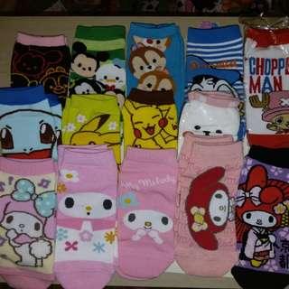 Sanrio Disney Melody Chip n Dale 唐老鴨 比卡超 女裝 船襪