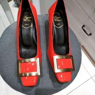 義大利 亮面漆皮平底鞋#36#