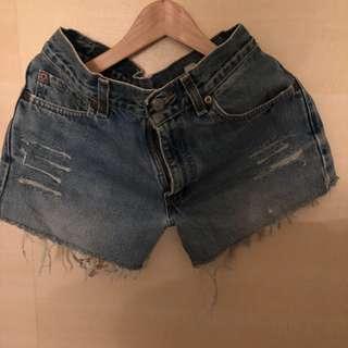 2⃣️🖐🏻Levis 550牛仔刷色短褲