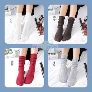 韓系(現貨) 堆堆襪 長筒襪 熱賣夯款 旅遊外出約會必備 就是要妳好看 日系 學生 韓版 女人 潮流 時尚 文青 批發