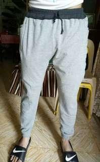 Plain Sided Pockets Jogger Pants