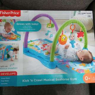 Fisher Price kick n crawl musical seahorse gym