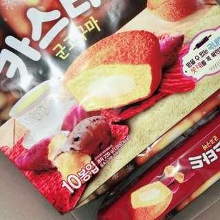 🚚 韓國 Lotte樂天 冬季限定 地瓜蛋黃派10入【現貨】