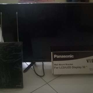 Dijual tv sanyo aquaos led 24inch