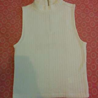 Turtleneck tank top (off white)
