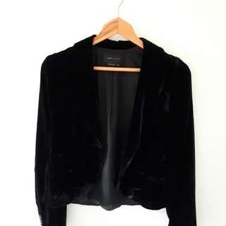 BGBG Black Velvet blazer/size XXS/BNWT