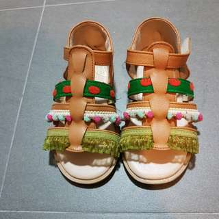 Toddler Kids' Real Leather Shoes traditional folk style
