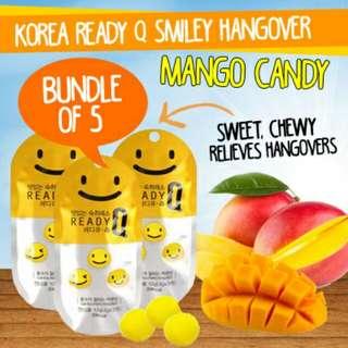 韓國超人氣READY Q 芒果口味 笑臉解酒軟糖 10包裝(1包12g/3顆裝) 【現貨】