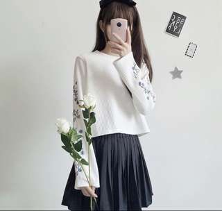 [PREORDER] Knitted Bell Sleeve Top