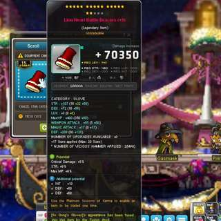 Maplesea crit damage lion heart glove