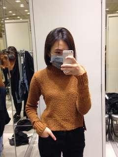🚚 H&M 駝色高齡針織長袖