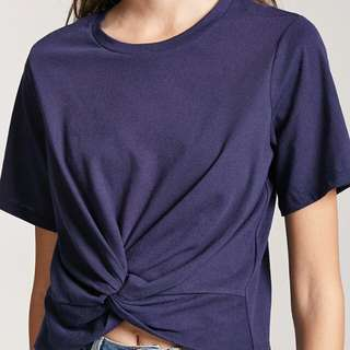 Forever 21 tied top in Navy blue