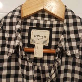 F21 Checkered Flannel