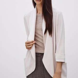 Aritzia Wilfred Silk Blazer