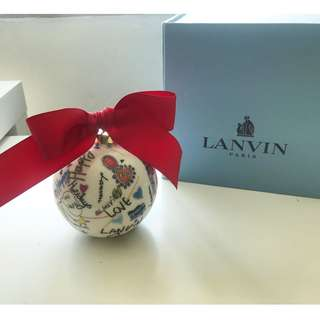 【Lanvin】Christmas Tree Bauble 100% porcelain holiday ornament 掛飾 吊飾 擺件Fendi Gucci LV Chanel Hermes Prada Salvatore Ferragamo Tom Ford Versace Christian Dior