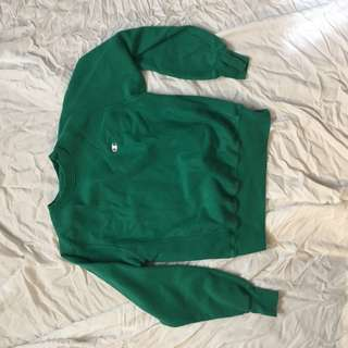 Green champion hoodie small