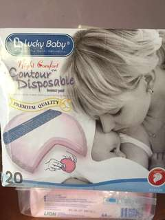 Lucky baby Night comfort Contour disposable Breast Pad