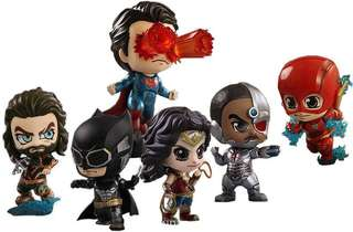 """[PO]Justice League 2017 Cosbaby 3.75"""" Hot Toys Bobble Head(6 Pack $190)"""