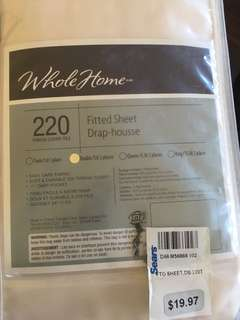 Plain White Fitted Sheet (Never Used)