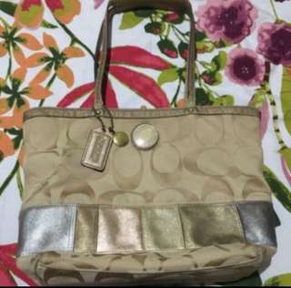 Authentic coach shoulder bag
