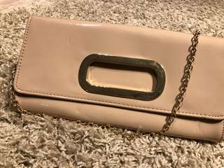 Aldo Patent Leader Clutch with Strap