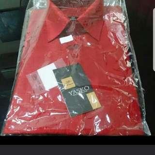 Silk cotton shirt- Red