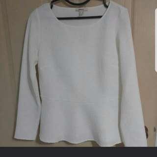 MEXX Long sleeve white blouse