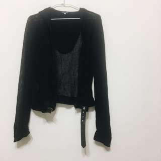 洞洞網格罩衫 個性薄外套 拉鍊外套