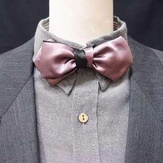 丁香紫黑雙面用領結