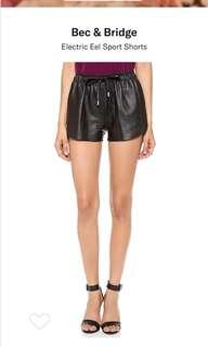 Bec and Bridge leather shorts